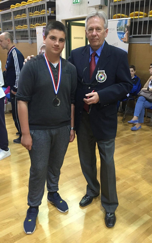 Prvenstvo Hrvatske finale Opatija – 7.05.2016. godine – Mateo Cerin izborio srebrnu medalju