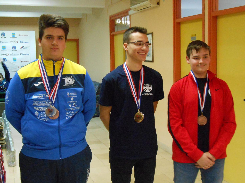 Strijelci streljačkog kluba rovinj Mateo Cerin srebrna medalja zračna puška kadeti