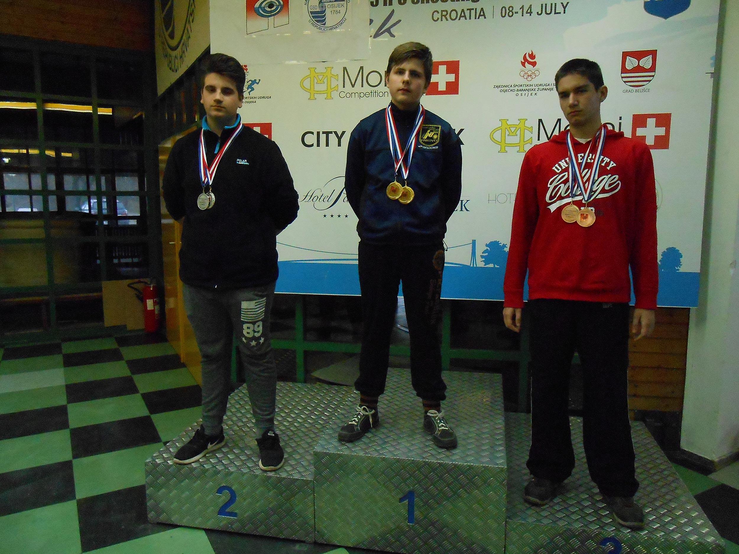 "1. Turnir ""Olimpijske Nade"" Osijek – Mateo Cerin osvojio srebro"