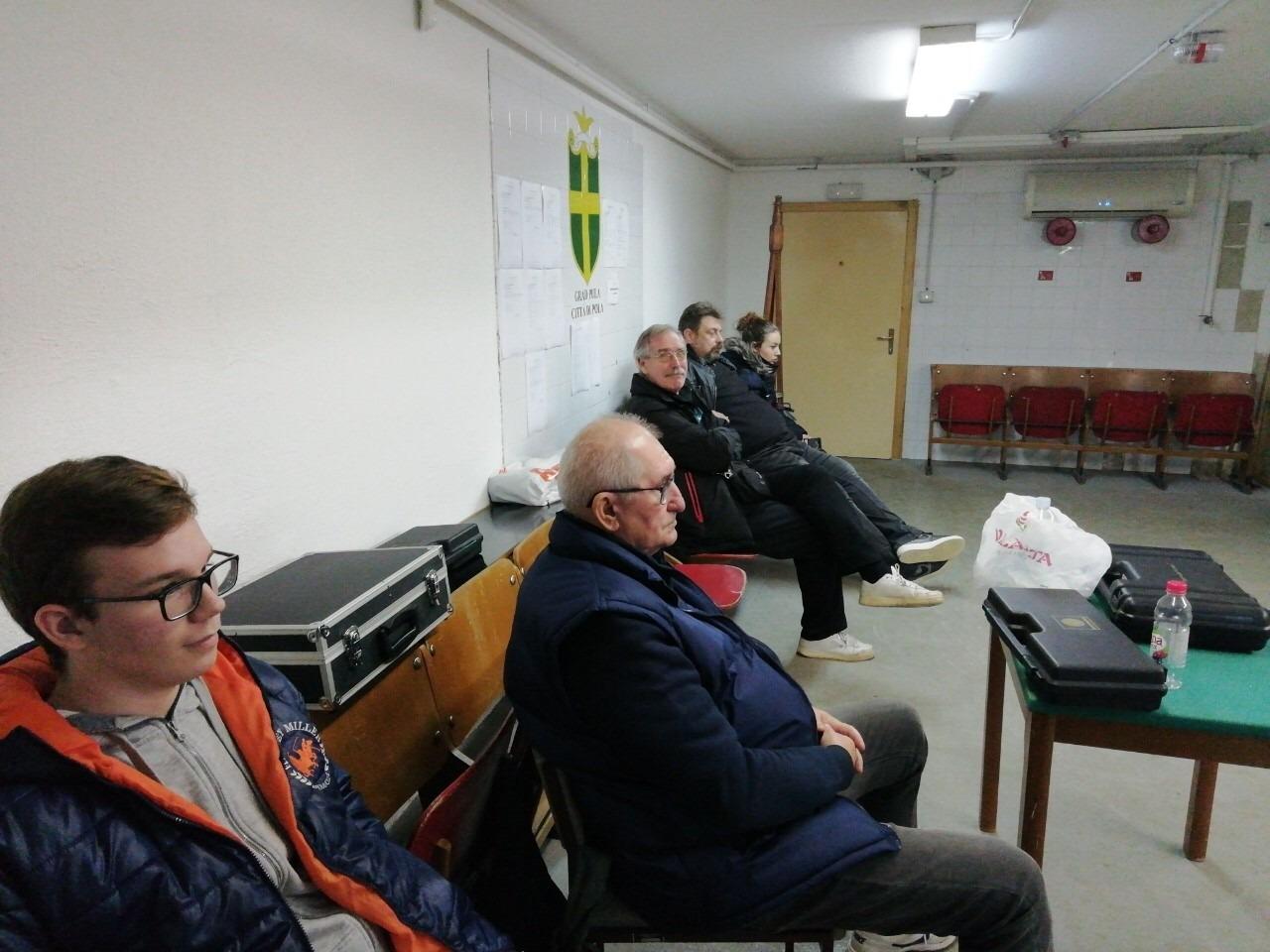 Natjecanje u Puli 2.kolo 1.B Hrvatske Lige zračni pištolj