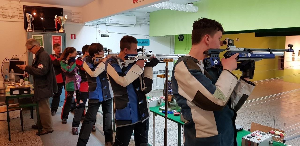 Kadeti streljačkog kluba rovinj na prvanstvu istarske županije u Rovinju