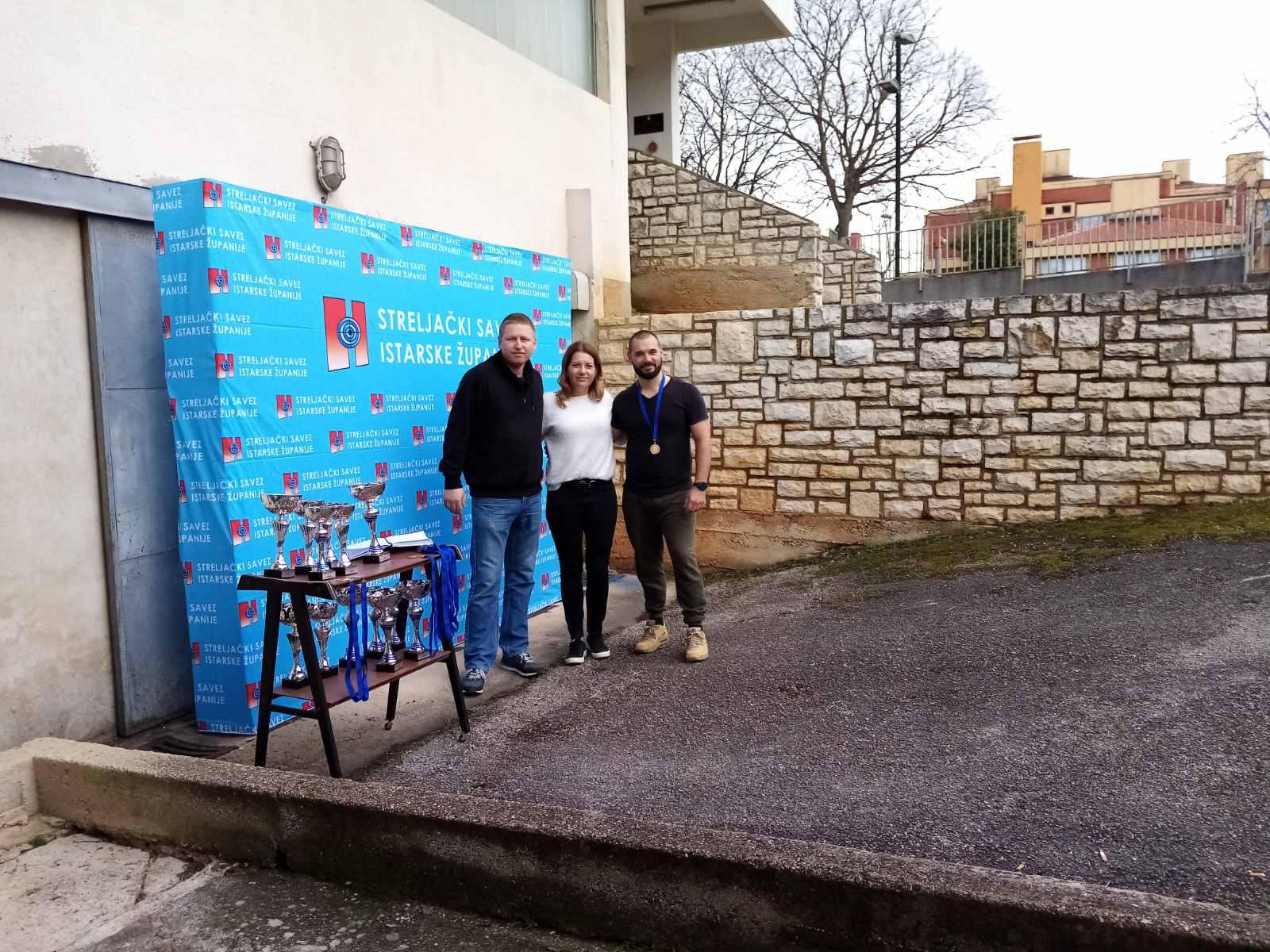 goran matošević, gordana zgrablić i manuel petrić strijelci i suci rovinja na prvenstvu